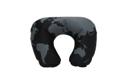 cool black wprld map inflatable neck pillow