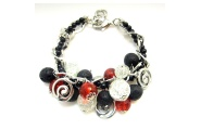 Lava and Glass Chain Bracelet By Hint of New Zealand
