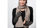 Chunky Cable Knit Scarf - Natural