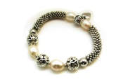 Pearl and Koru Ball Bracelet By Hint of New Zealand