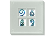 maori icons glass coasters shop new zealand