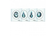 greenstone icon glass coasters