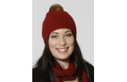 Pom Pom Beanie- Ruby Red