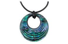 creole curve paua necklace
